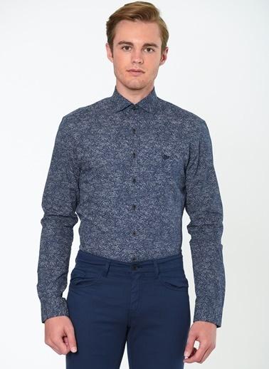 Desenli Klasik Uzun Kollu Gömlek-Beymen Business
